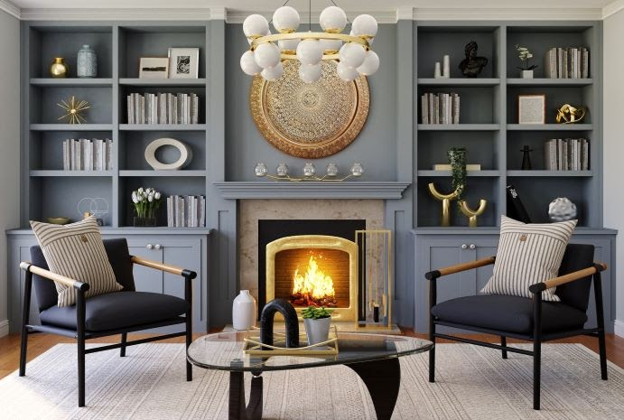 10 Tips on How to Decorate a Living Room with a Fireplace in the Middle