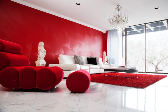 9 Red Living Room Ideas